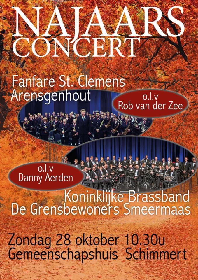 Affiche concert Brassband Smeermaas